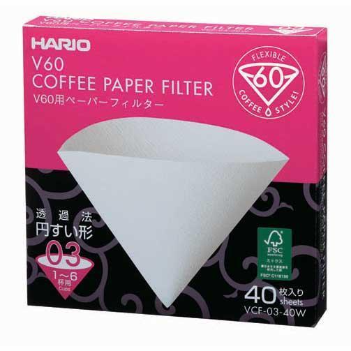 Хартиени филтри за HARIO 03 V60 1-6 чаши(Кафяви)